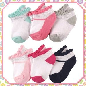 🌺New🌺6 Pair - Stylish Baby No Shoe Ankle Socks🌺